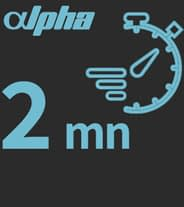 charging time alpha bike two minutes