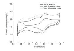 Cyclic voltammograms of Pt/CNT catalysts